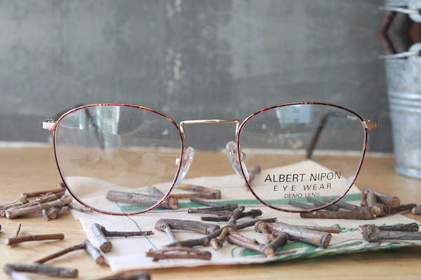 vtg-345 Abert nipon reopard-gold rim